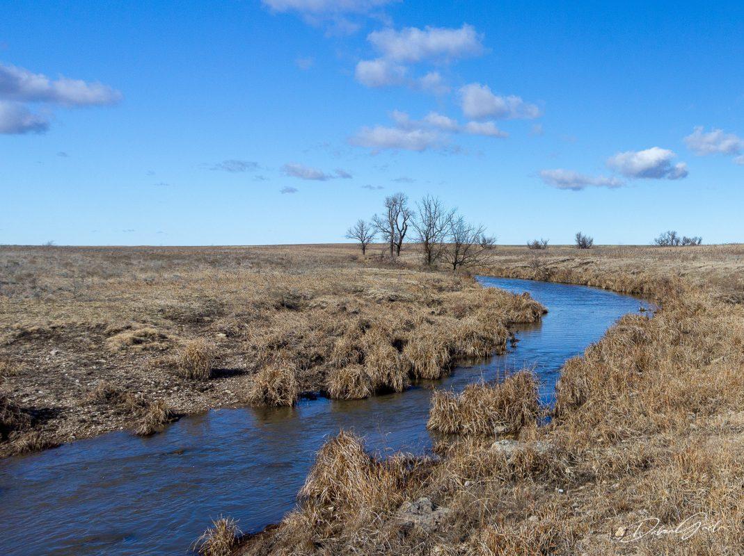 winter blues blue skies kansas prairie landscape photography fine art prints flint hills
