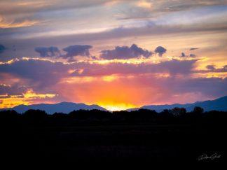 Beautiful Idaho Sunset, Peaceful and Simple Wall Art, Barnwood Frame Options, Paper Print, Canvas - Minimalist Wall Decor by Debra Gail Photography